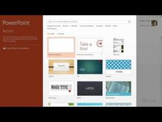 Training: Create your first PowerPoint 2013 presentation: Start using PowerPoint - Video 1 of 5 Microsoft Powerpoint, School Ideas, Create Yourself, Presentation, Told You So, Training, Technology, Business, Youtube