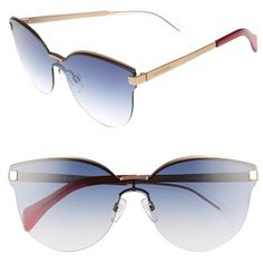 Women's Tommy Hilfiger Rimless Cat Eye Sunglasses (280 BAM) ❤ liked on Polyvore featuring accessories, eyewear, sunglasses and gold