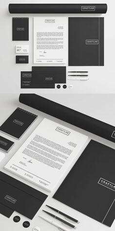 Creative Corporate Stationery Invoice Design, Letterhead Design, Branding Design, Psd Templates, Brochure Template, Envelope Design, Stationery Items, Business Branding, Lettering