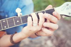 Music Themed Engagement Session - Rustic Wedding Chic
