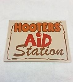 """Hooters """"Aid Station"""" Restaurant Poster Sign Decor 12x9"""