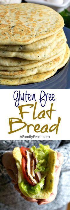 Gluten Free Flat Bread - A delicious alternative to pita bread! Use as a safe option for #glutenfree #pizza