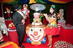 Resultado de imagem para festa tema circo menino