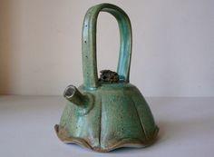 Natan Moss  |  Jade-glazed, arch-handled teapot.