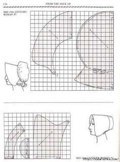 poke and soft-poke bonnet pattern Costume Patterns, Doll Patterns, Vintage Patterns, Clothing Patterns, Vintage Sewing, Sewing Patterns, Sewing Crafts, Sewing Projects, Costume Carnaval