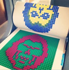 """I don't play with toys. I just print with them."" -Chris Ware, Print Maker who uses Legos as printing tool                                                                                                                                                                                 More"