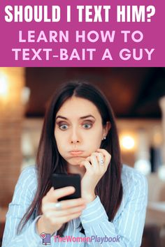 Have you asked this question to yourself: Should I text him? The answer is you can but the more important question should be how. Learn how to text bait a guy to pique his interest in you.   #textingaguy #howtotextaguy  #shoulditexthim Make Him Miss You, A Guy Like You, Make A Man, Love Texts For Him, Ignore Text, Rekindle Romance, Single Women, Single Ladies, Dating World