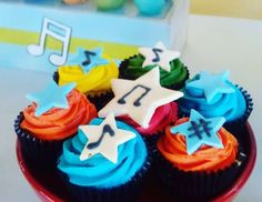 Merelde's Birthday / MUSCIAL - Musical birthday party at Catch My Party Music Themed Parties, Music Party, Lucas David, Baby Rocker, Tiana, Fondant, Party Themes, Musicals, Birthday Parties