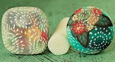 Translucent Triple Fairy Ring Polymer Clay Cane. $4.75, via Etsy.