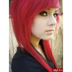 Fryzury EMO ❤ liked on Polyvore featuring accessories, hair accessories, hair, people, girls, hairstyles, pictures and red hair accessories