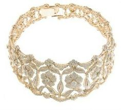 Diamond and gold collar, choker style necklace