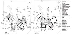 Moko Architects - Twig House Cluster House, Architecture Plan, Dom, Architects, Presentation, Floor Plans, How To Plan, Drawings, Projects