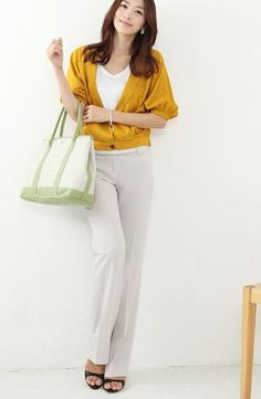 Korea Style Cotton Pants Light Grey