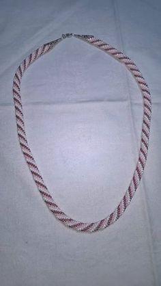 """Tecnica:bead crochet_collana Spirale_versione""""Parigi"""""""