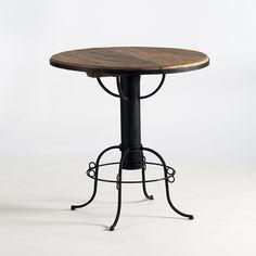 mesa redonda para bar com base de ferro