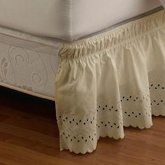 Diy No Sew Drop Cloth Bed Skirt Boudoirs Diy Curtains