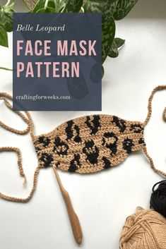 The Belle Leopard Face Mask is a non-medical grade crochet mask pattern. It is written for adult size and includes a pocket for a filter. Crochet Mask, Crochet Faces, Easy Face Masks, Diy Face Mask, Crochet Gratis, Free Crochet, Leopard Face, Invisible Stitch, Yarn Over
