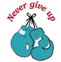 Designs in Machine Embroidery - Never Give Up Boxing Gloves
