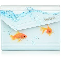 Jimmy Choo CANDY Gold Fish Acrylic Clutch Bag (2.805 BRL) ❤ liked on Polyvore featuring bags, handbags, clutches, purses, acrylic clutches, handbag purse, handbags crossbody, hand bags and purse clutches