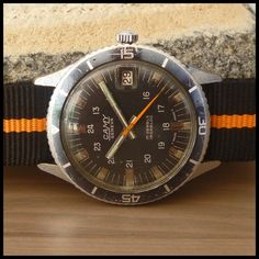 1960's CAMY [Geneva] Vintage Military Diver Watch 17j HW ASST 96-4 Date Movement