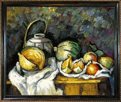 Cezanne - Still Life with Melons and Apples - overstockArt.com