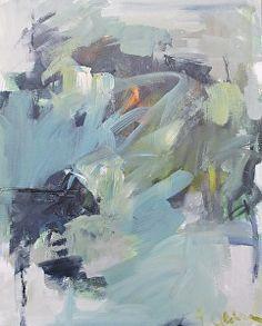 "'Shore Rd study 2' | Eileen Power | acrylic on canvas, 20"" x 16"""