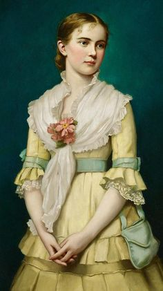 Portrait Of A Young Girl Painting by George Chickering Munzig