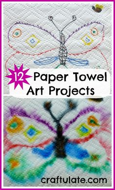 12 Paper Towel Art Projects from Craftulate