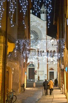 Luci a Modena by Marco Amarù via Città di Modena, Italy
