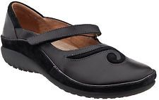 Naot Womens Matai Mary Jane - Black Madras Leather - NIB