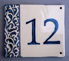 House Plaques, House Number Plaque, Clay Houses, Ceramic Houses, Ceramic House Numbers, Tile House Numbers, Pottery Houses, Door Numbers, Address Plaque
