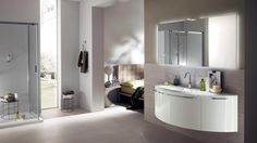 Aquo Bathroom - Scavolini by Scavolini Kitchen, Living and Bathroom with artemide Castore