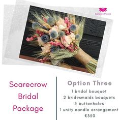 Scarecrow bridal flowers package