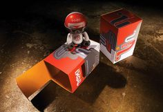 Trexi toy packaging by Becky Lewis, via Behance
