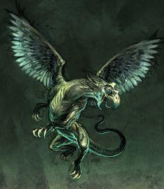 gryfon creature by Michal Ivan - gryfon, griffon, griffins - Art of Fantasy Greek Creatures, Fantasy Creatures, Mythical Creatures, Fantasy World, Fantasy Art, Unicorns And Mermaids, Legendary Creature, Monster Design, Fantasy Dragon