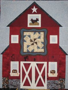 Barn block of the month pattern created by Lorri Bashein