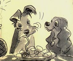 lady and the tramp sketch