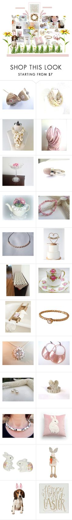 """""""Happy Easter"""" by therusticpelican ❤ liked on Polyvore featuring Melrose International, Rubie's Costume Co., modern, contemporary, rustic and vintage"""
