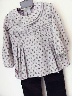 jolie blouse en batiste brume cerises figue