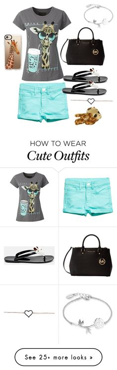 """""""Cute giraffe coffee outfit"""" by vballgirl03 on Polyvore featuring Ted Baker, Michael Kors, Disney and Casetify"""