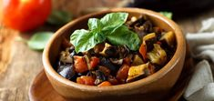 Caponata is a Sicilian veggie dish. It is consists of eggplant onions tomatoes celery garlic olive oil capers or olives and sweet vinegar. Caponata is served as salad or side dish Ratatouille, Veggie Dishes, Side Dishes, Feta, Zucchini, Protein, Garlic Olive Oil, Sicilian, Pot Roast