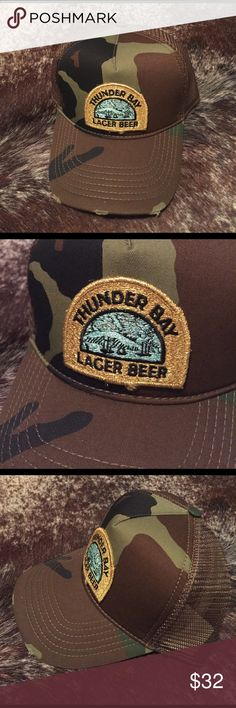 Thunder Bay Lager Beer SnapBack One of a kind SnapBack created by myself! Rock this totally original look! The patch on this particular hat is metallic and sparkles in the light. Accessories Hats