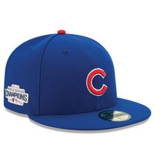 Chicago Cubs New Era 2016 World Series Champions Side Patch 59FIFTY Fitted Hat - Royal