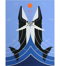 'Richter Scale' by Charles Harper #illustration #Whales #Charles_Harper