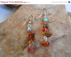 ON SALE Turquoise Tigers Eye and Carnelian by FaeMoonWolfDesigns, $17.00