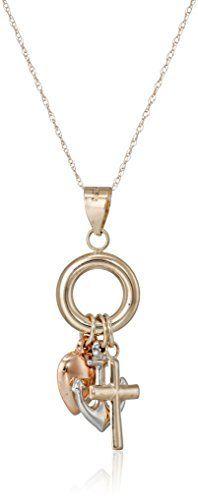 10k Gold Tri-Color Faith, Hope and Love Pendant Necklace Amazon Collection via https://www.bittopper.com/item/10k-gold-tri-color-faith-hope-and-love-pendant-necklace/ebitshopa7e5/