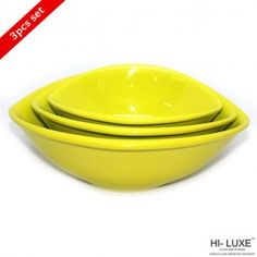 Hi Luxe Oval Serving Bowl Green
