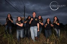 Running Group Photo with Jenks FFA Officer Team