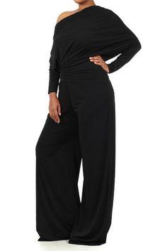 Shop Kami Shade' -  Plus Size Glam Me Chic Jersey Black Pantsuit, $164.00 (http://www.kamishade.com/haute-plus-size-dresses-more/plus-size-glam-me-chic-jersey-black-pantsuit/)