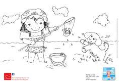 Noortje is aan zee! Samen met haar hondje Boef bouwt Noortje een mooi zandkasteel. Ze spelen lekker in het water en zoeken schelpjes op het strand. Noortje eet ook een heerlijk ijsje en dan … vallen haar oogjes dicht. Het was een gezellig dagje aan zee!  Een vrolijk boekje over een meisje, haar hond en haar pop die een dagje naar zee gaan. Voor peuters vanaf 18 maanden, met de wereld rondom het kind als thema Good Company, Snoopy, School, Fictional Characters, Art, Seeds, Art Background, Kunst, Performing Arts